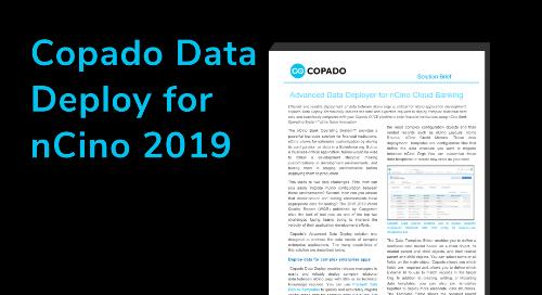 Copado Data Deploy for nCino 2019 Data Sheet