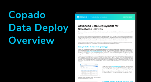 Copado Data Deploy Overview
