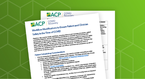 ACP workflow modifications to ensure patient & clinician safety in the time of COVID