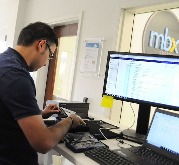 Summer interns at MBX Systems