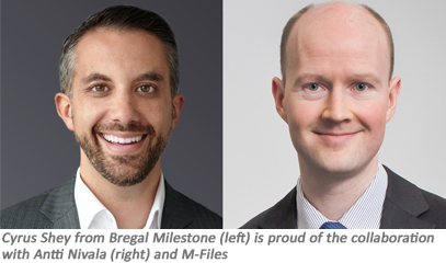Bregal Milestone along with current investors Partech, Tesi and Draper Esprit invest $80 million (€67 million) in M-Files intelligent information management.