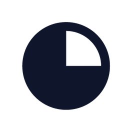 Pie chart icon showing portion available