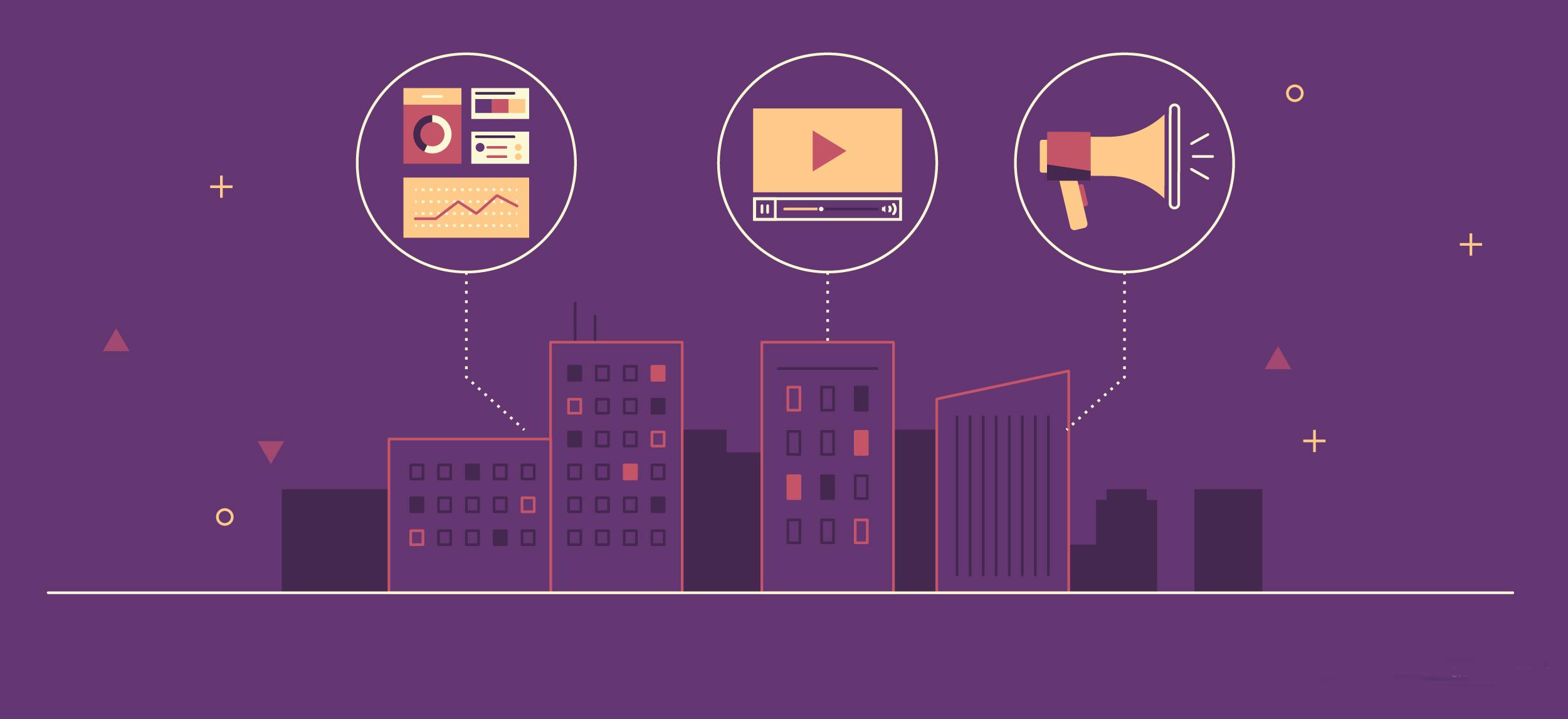 Illustration of a brand's visual communication strategy