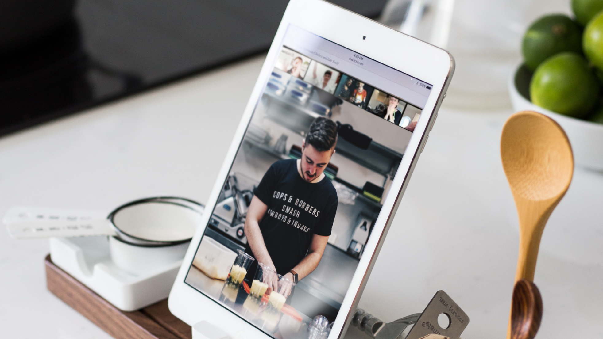 video chat cooking video in an airbnb home as new brand strategy
