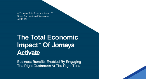 Total Economic Impact of Jornaya Activate & Behavioral Data in Marketing