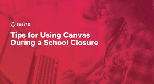 Using Canvas During School Closures