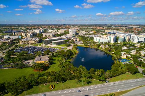 Aerial shot of Florida International University