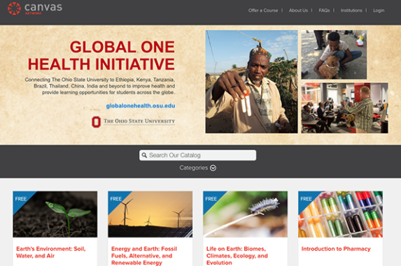 Screen shot of Canvas Network Global One Health collection