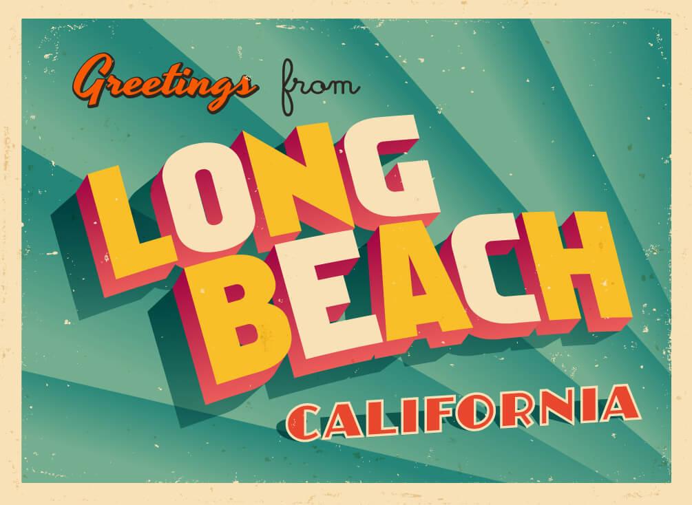 Long Beach post card