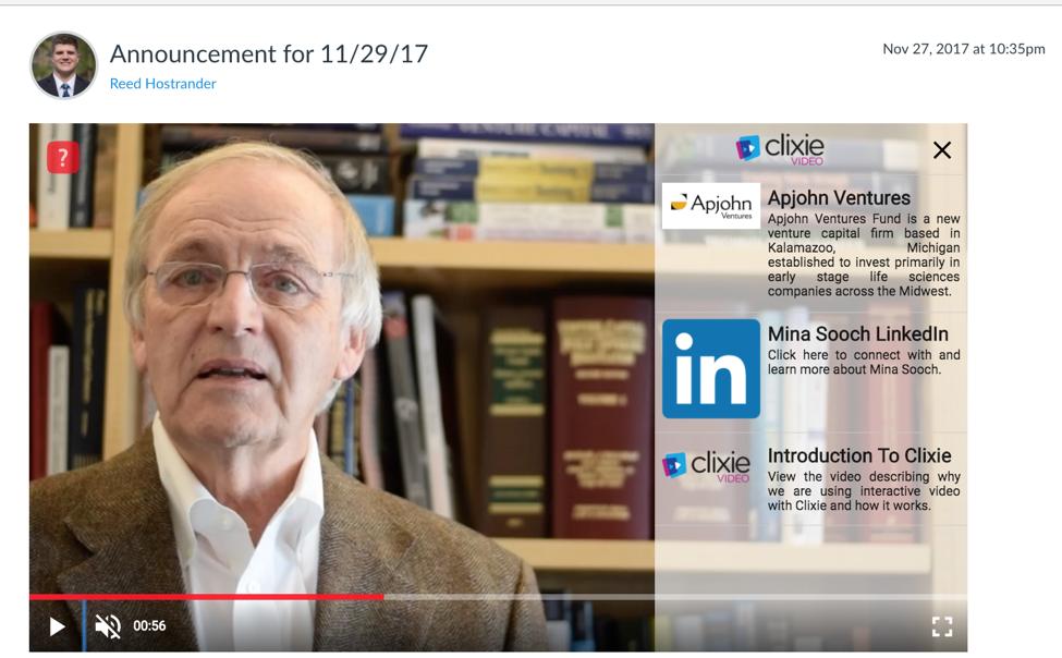 Video Announcements Clixie