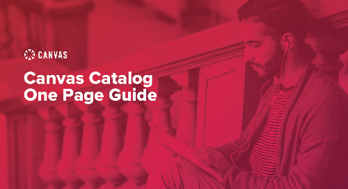 Canvas Catalog One Page Guide