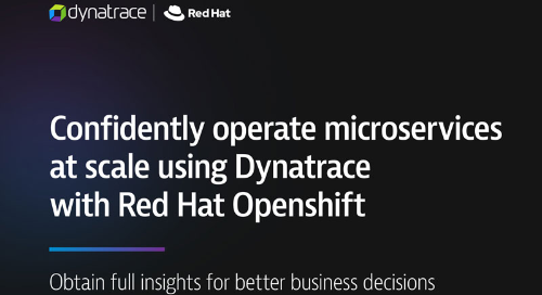 Confidently operate microservices at scale using Dynatrace with Red Hat Openshift