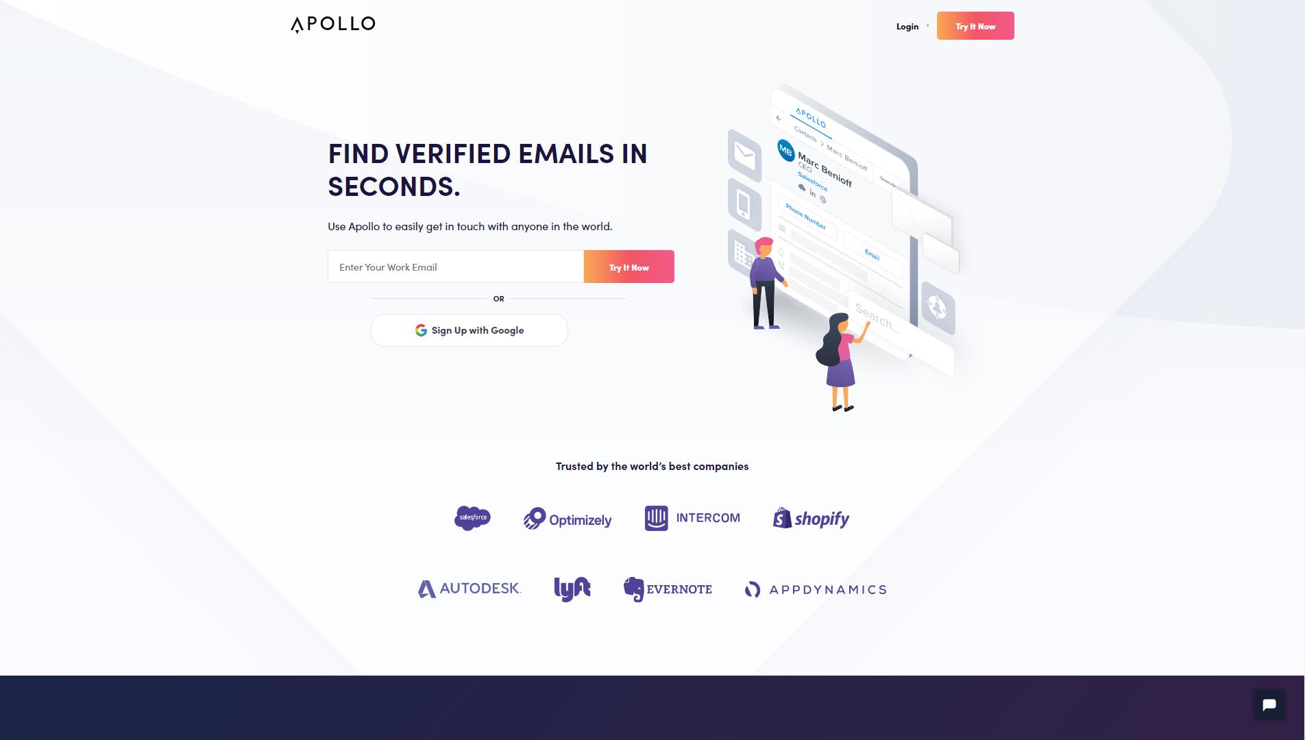 Apollo Landing Page
