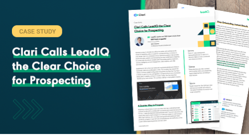 Clari Calls LeadIQ the Clear Choice for Prospecting