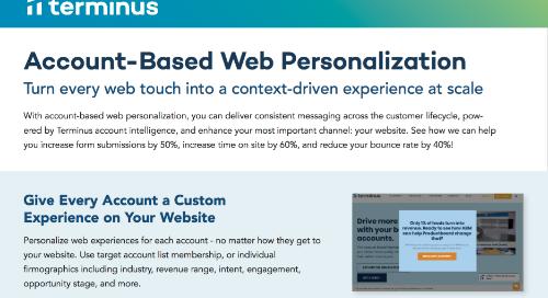 Account-Based Web Personalization