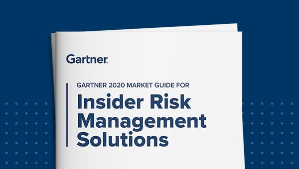 Thumbnail for the Gartner 2020 Market Guide for Insider Risk Management Solutions.