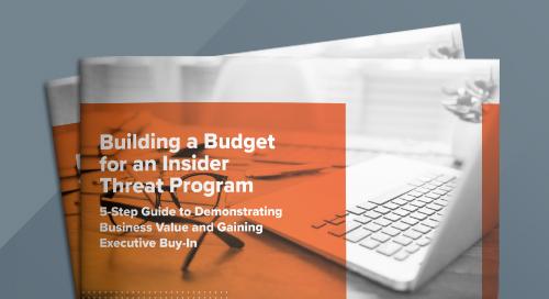 Building a Budget For an Insider Threat Program