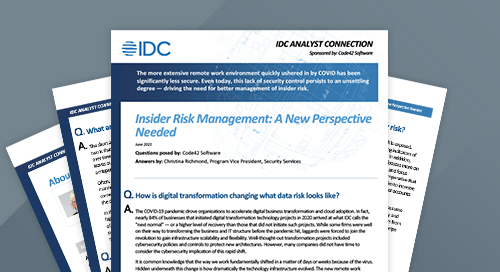 IDC Analyst Connection: Insider Risk Management
