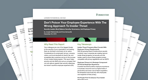 Forrester Study: Balancing Employee Experience and Insider Threat Security