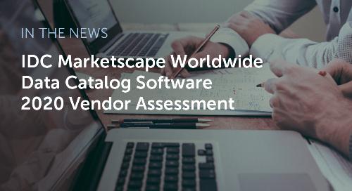 IDC MarketScape: Worldwide Data Catalog Software 2020 Vendor Assessment