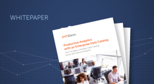 Productive Analytics with an Enterprise Data Catalog