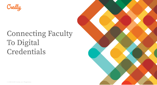 Connecting Faculty To Digital Credentials