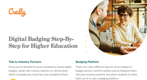 Digital Badging Step-By-Step for Higher Education