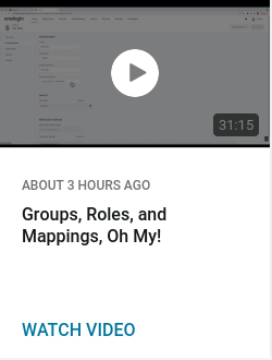 Groups, Roles, and Mappings, Oh My!