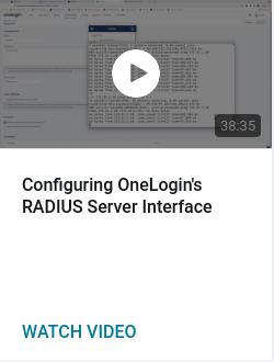 Configuring OneLogin's RADIUS Server Interface