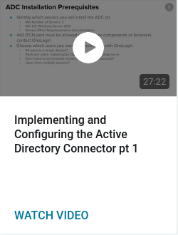 Implementing and Configuring the Active Directory Connector pt 1