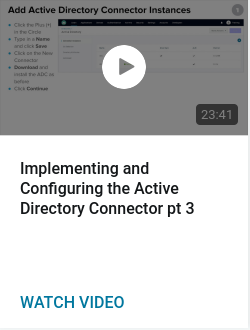 Implementing and Configuring the Active Directory Connector pt 3
