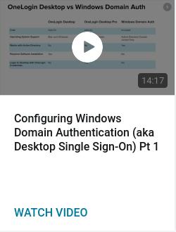 Configuring Windows Domain Authentication (aka Desktop Single Sign-On) Pt 1