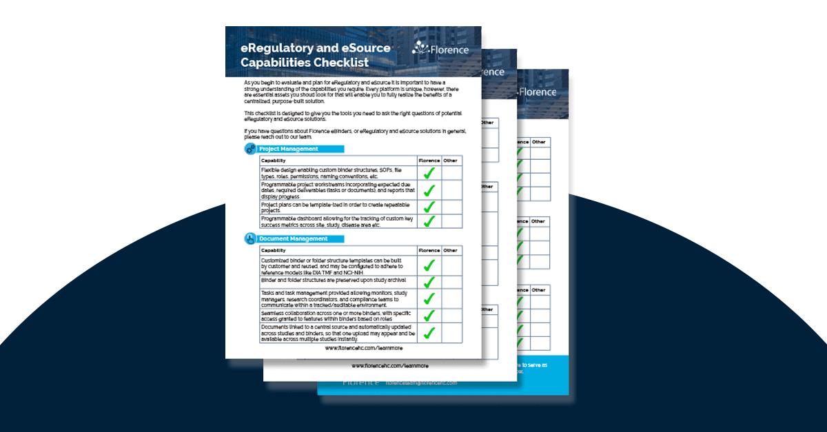 eRegulatory Evaluation and RFP Checklist