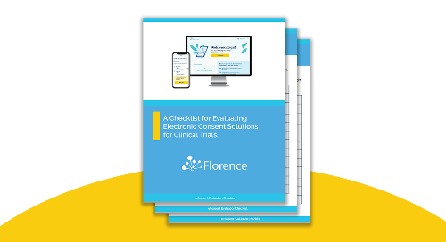 Florence eConsent Capability Evaluation Checklist