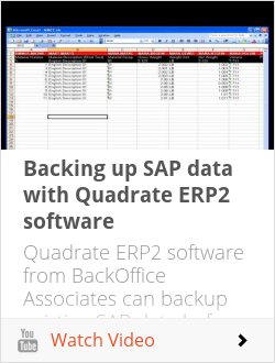 Backing up SAP data with Quadrate ERP2 software