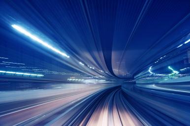 Seems of light in tunnel
