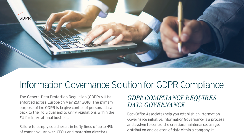 Information Governance Solutions for GDPR Compliance