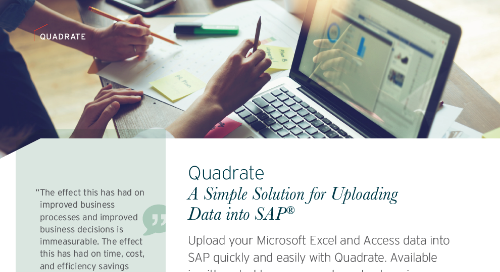 Quadrate - A Simple Solution for Loading to SAP