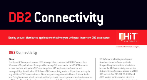 IBM DB2 Connectivity