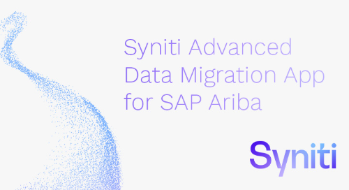 Syniti Advanced Data Migration App for SAP Ariba