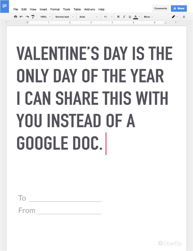 Google Doc Valentine