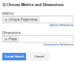 Google Analytics Report Unique Pageviews