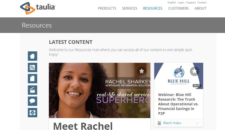 taulia content hub
