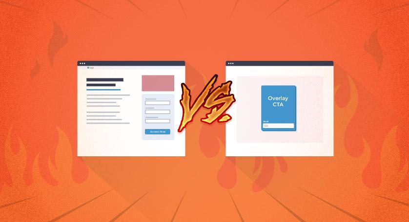 Landing Page vs. Overlay CTA