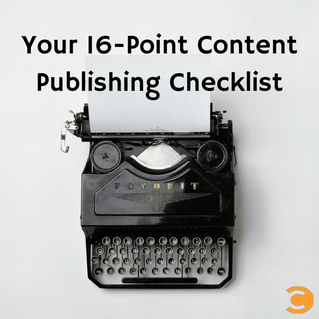 Content Publishing Checklist