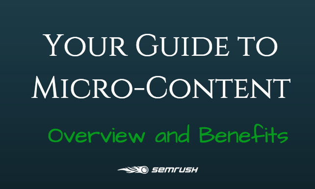 Guide to Micro Content