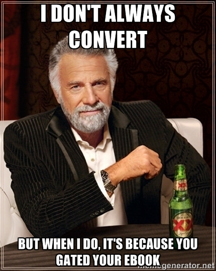 Gating Content Marketing Meme