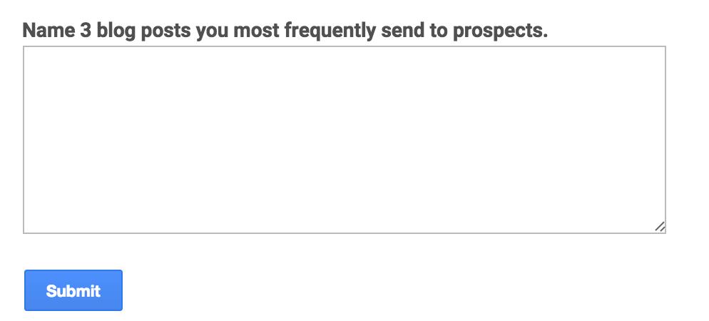 SMarketing Survey