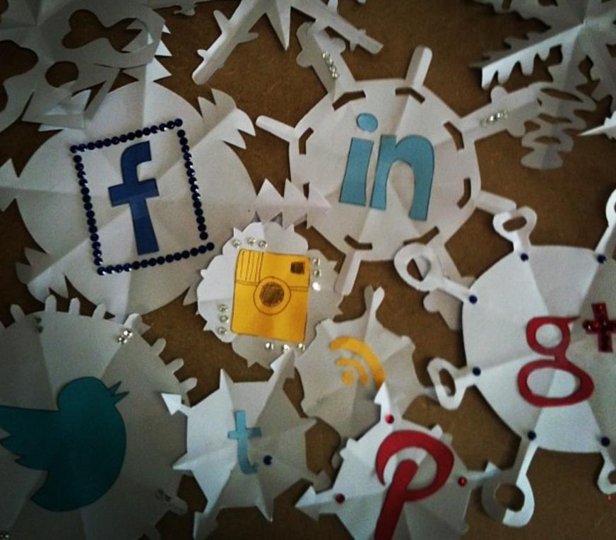 social media snowflakes