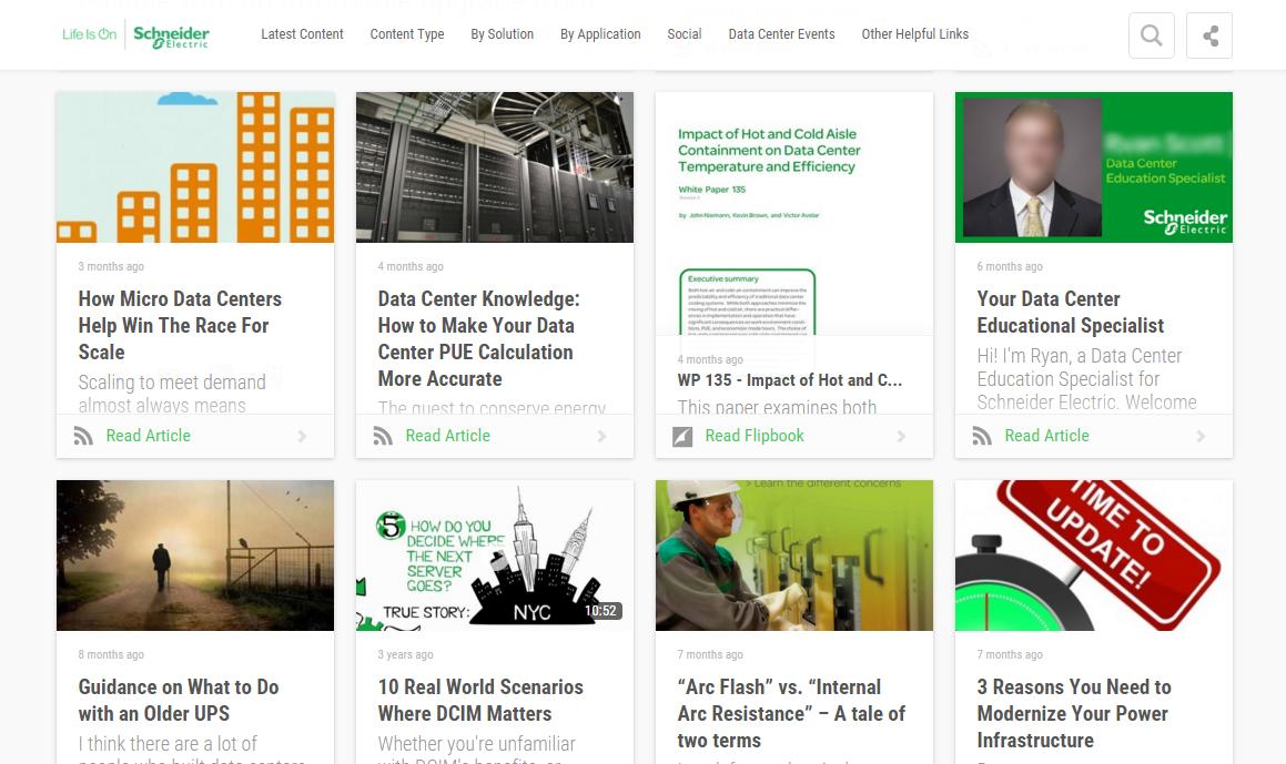 Schneider Electric Content Hub